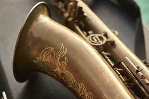Detail of a sax