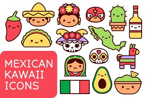 Mexican Kawaii Icons