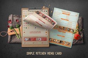 Simple Kitchen Menu Card