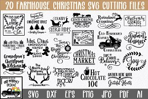 Farmhouse Christmas SVG Bundle