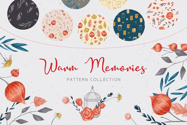 Patterns: Gray Cat Graphics - Warm Memories - Patterns