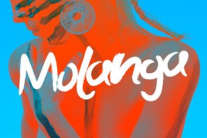 Molanga - Brush Font