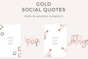 Social Media Quotes (in GOLD)