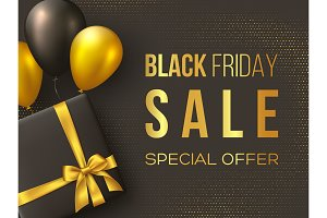 Black Friday sale poster or banner.