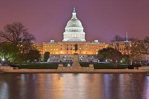 Glowing Washington DC Capitol