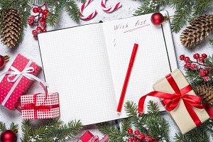Wish list for christmas with christm