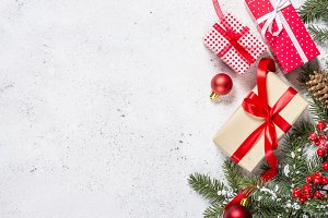 Christmas background with fir tree,
