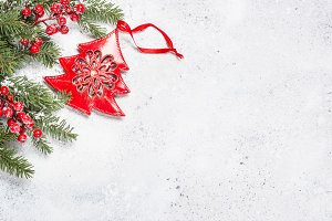 Christmas background with fir tree a