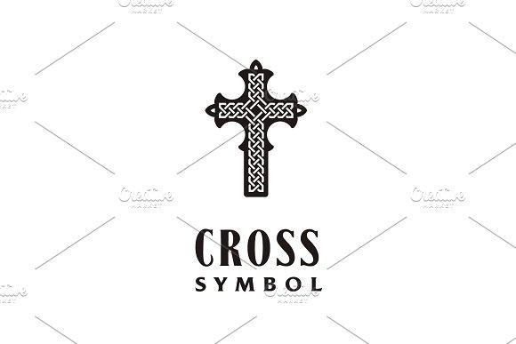 Celtic Knot Christian Cross Logo