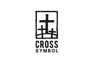 Jesus & 2 thieves illustration logo