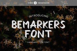 Bemarkers Font - Handwritten Font