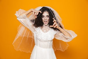 Image of scary dead bride on hallowe