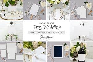 Gray Wedding Mockup Bundle
