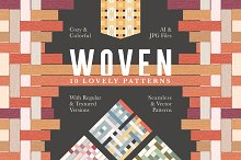 Woven Seamless Vector Pattern Set by  in Patterns