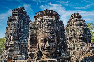 Faces of Bayon temple, Angkor