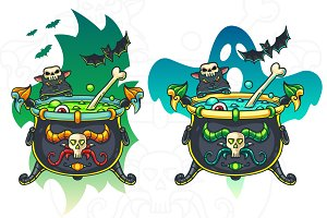 Halloween Cauldron Illustration