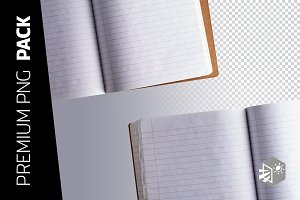 2 WRITING BOOK PNG IMAGES