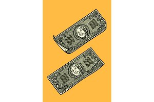 Dollars banknotes, banks and Finance