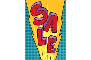 sale pop art background