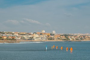 Wind sailing boats at Estoril, PT