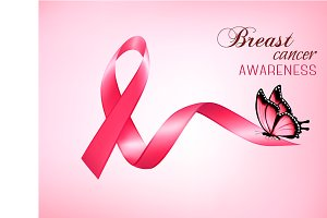 Breast cancer awareness pink banner