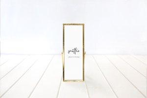 Gold 2x6 Frame Mockup