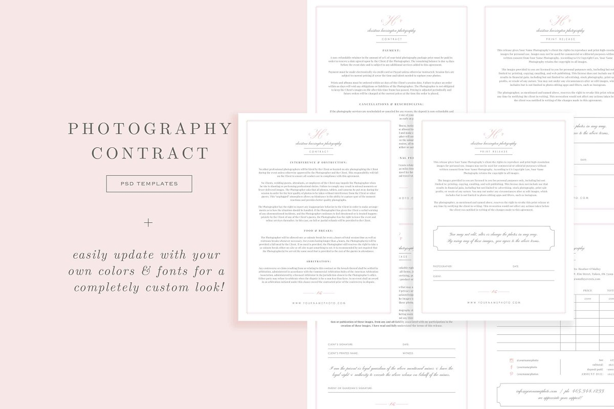Wedding Photography Contract.Wedding Photographer Contract Form Stationery Templates Creative