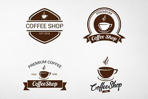 Vintage Coffee Logo and Badges