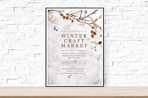 Winter Themed Flyer Template