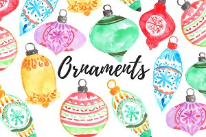 Watercolor Ornament clipart