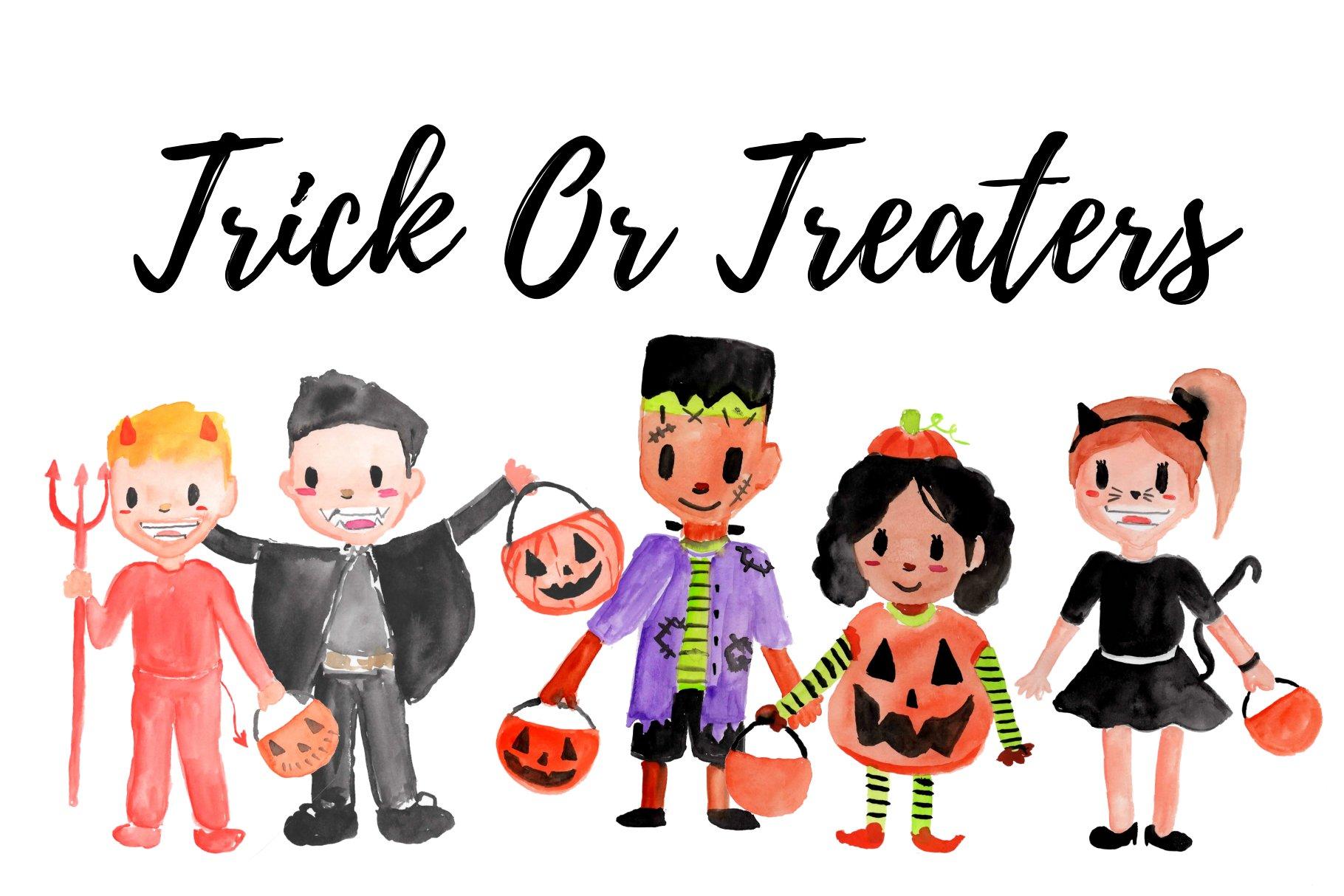 Halloween trick or treaters clip art - Halloween trick or treaters clipart  photo - NiceClipart.com