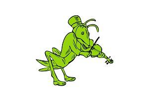 Grasshopper Fiddler Drawing