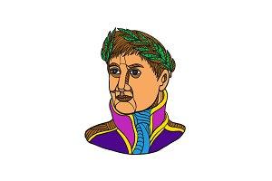 Emperor Napoleon Bonaparte Mono Line