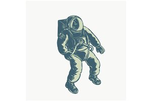Astronaut Floating in Space Scratchb