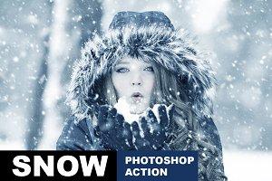 Snow Photoshop Action