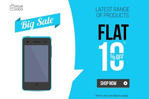 Flat Product Sale Mobile banner