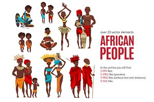 African People Set