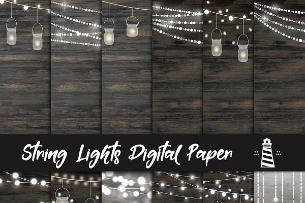 String Lights Digital Paper