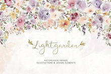 Lightgarden Watercolor Graphic Set