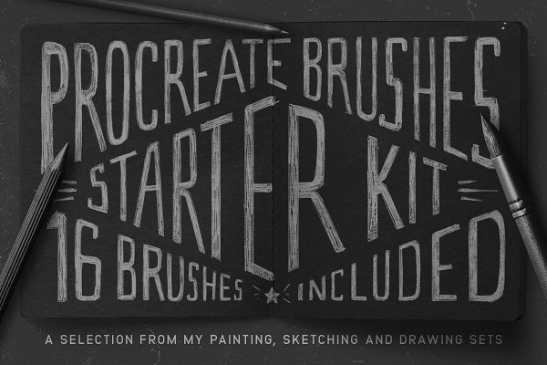 Photoshop Brushes - Procreate Brushes Starter Kit