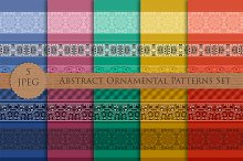 Abstract Ornamental Patterns Set