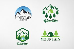 Mountain Adventure Logo and Badges
