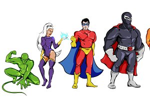 Comic Superheroes Set