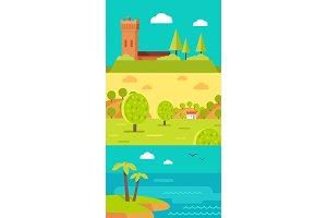 Summer Vacation Touristic Landscapes