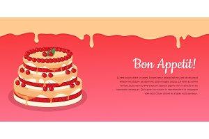 Bon Appetit. Festive Cake Web Banner