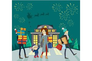 Shopping Gifts on Winter Holidays