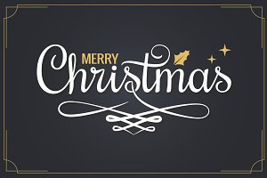 Christmas vintage lettering