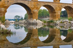 Aqueduct and its reflection