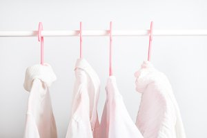 Different clothes on a hanger, lifes