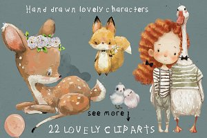 22 lovely characters
